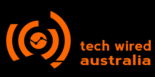 tech wired logo additional concepts reversed out