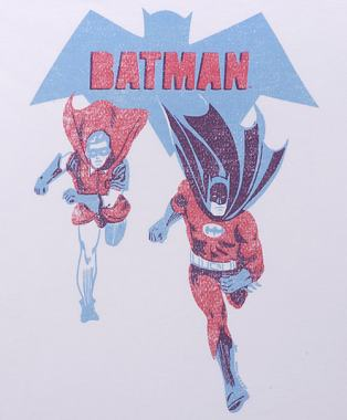 Another image of Batman and Robin Running, on a T-Shirt