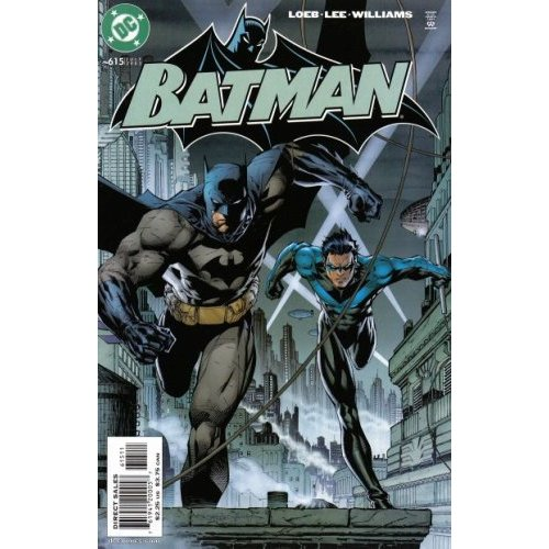 Cover for Batman: Hush with Batman and Nightwing running towards the reader