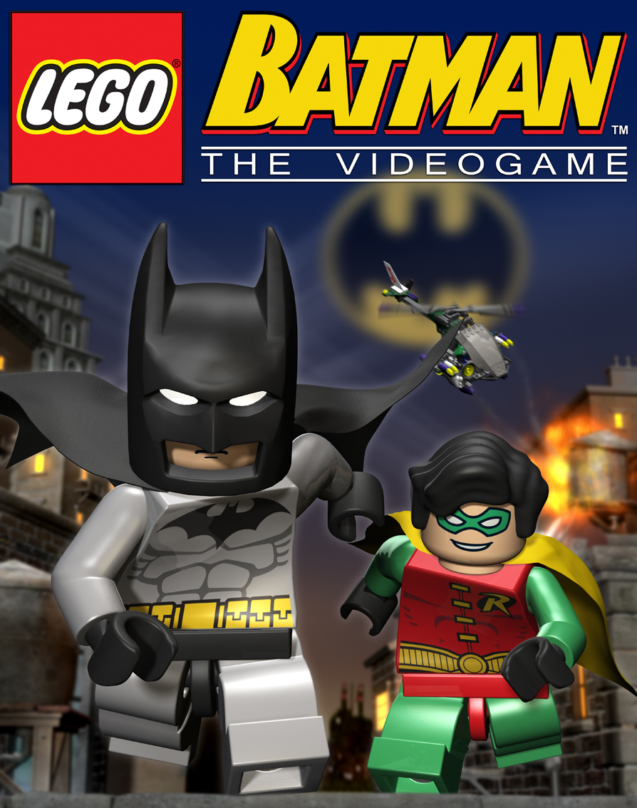 A lego version of Batman and Robin running towards the camera